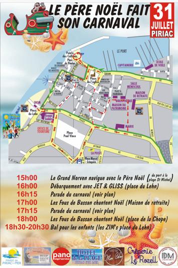 Le Père Noël fait son Carnaval à Piriac-sur-Mer / le programme